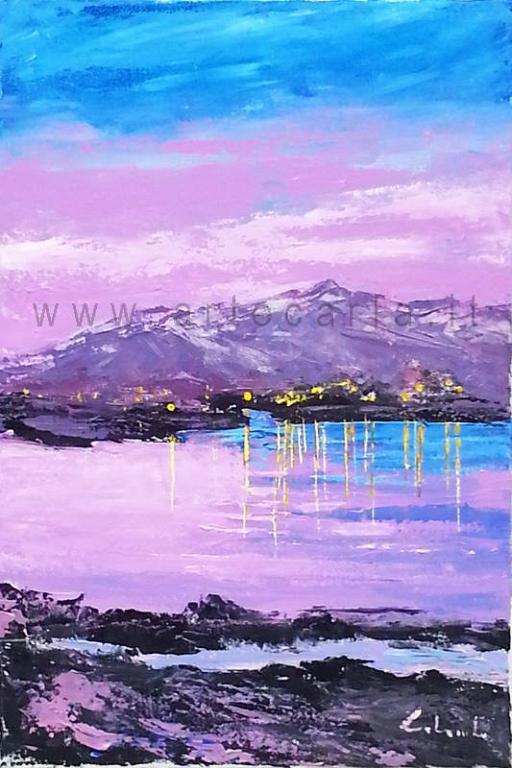 Accadde la sera sul lago - Carla Colombo - Acrilico - 330 €