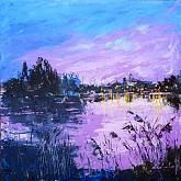 Accadde la sera sul fiume - Carla Colombo - Acrilico - 350€