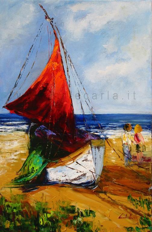 Il più bello dei mari è quello che non navigammo - Nazim Hikmet - Carla Colombo - Olio