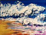Il tumulto del cuore, oltre l'oceano  - Carla Colombo - Acrilico
