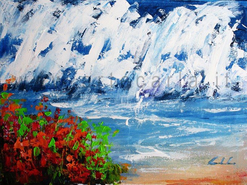 il tumulto del cuore, oltre l'oceano 2  - Carla Colombo - Acrilico