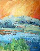 In cielo un canto di gioia 2 - Carla Colombo - Olio