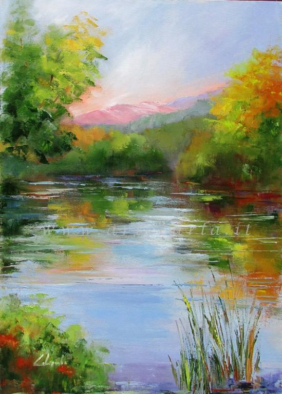Il sussurro di inizio autunno  - Carla Colombo - Olio