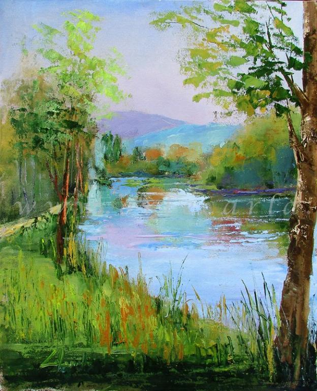 Melodia infinita sul fiume - Carla Colombo - Olio - 390 €