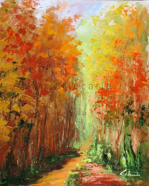 Accarezzami intensamente autunno - Carla Colombo - Olio
