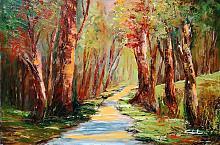 Camminando nel bosco  - Carla Colombo - Olio