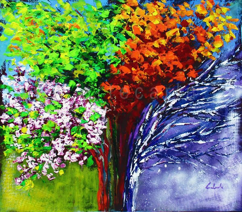 Inno alla vita con i suoi colori  - Carla Colombo - Acrilico - 550 €