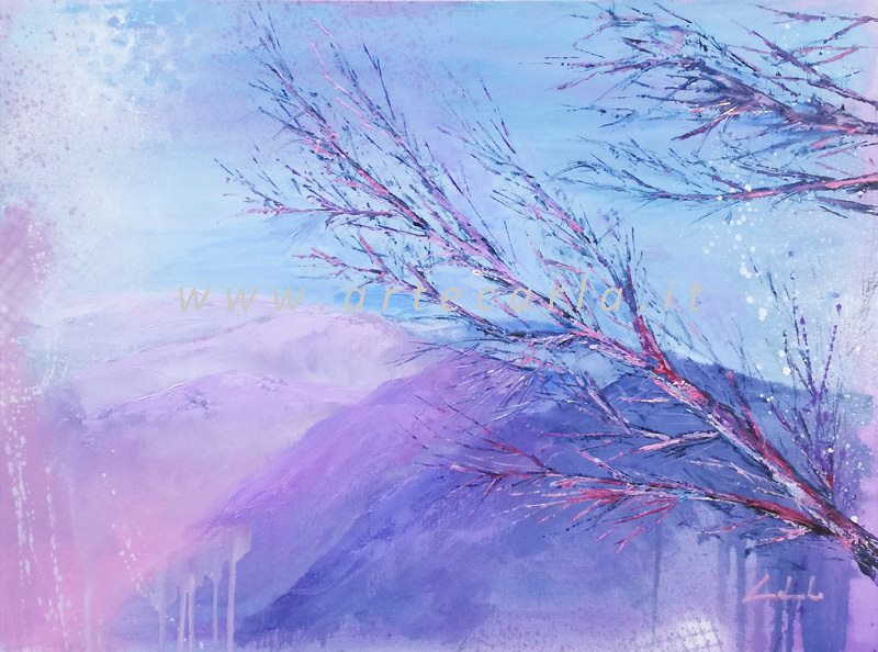 Il silenzio mi avvolge fra i monti  - Carla Colombo - Olio