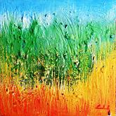 Inventando un'emozione - Carla Colombo - olio + sabbia  - 95€ - Venduto!