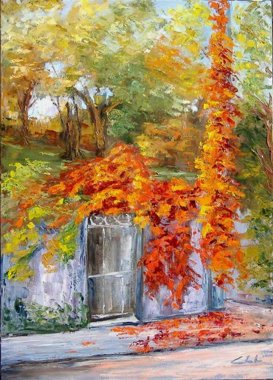 Riverberi e sussurri delle foglie d'autunno - Carla Colombo - Olio