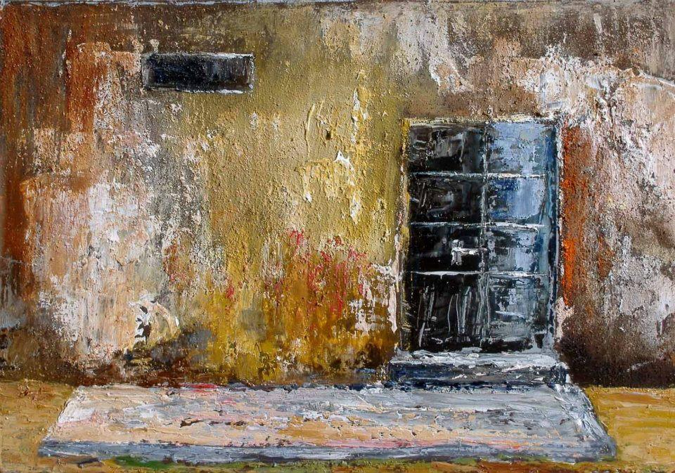 Non chiudermi al buio - Carla Colombo - olio + sabbia  - 320 €