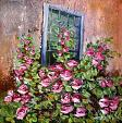 A maggio, quel profumo di rose - Carla Colombo - olio + sabbia  - 410€
