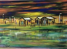 Case sul lago - Dalido Gino Marini - Acrilico - 500€