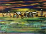 Case sul lago - Dalido Gino Marini - Acrilico - 500€ - Venduto!