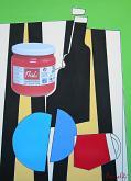 Natura morta - Gabriele Donelli - Acrilico e collage - 400€