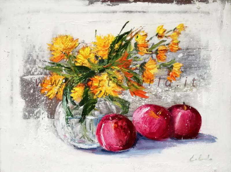 E' sempre colore di gioia  anche d'inverno - Carla Colombo - Olio