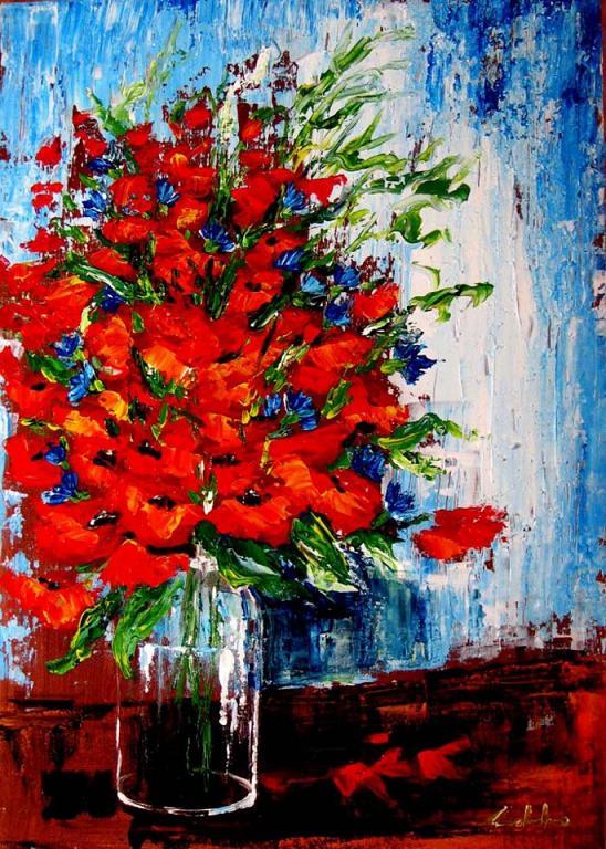 La follia in rosso  - Carla Colombo - Acrilico