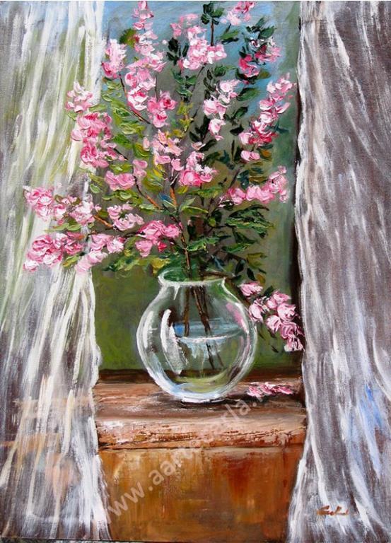 Nel cuore, il tuo soffio di primavera  - Carla Colombo - Olio