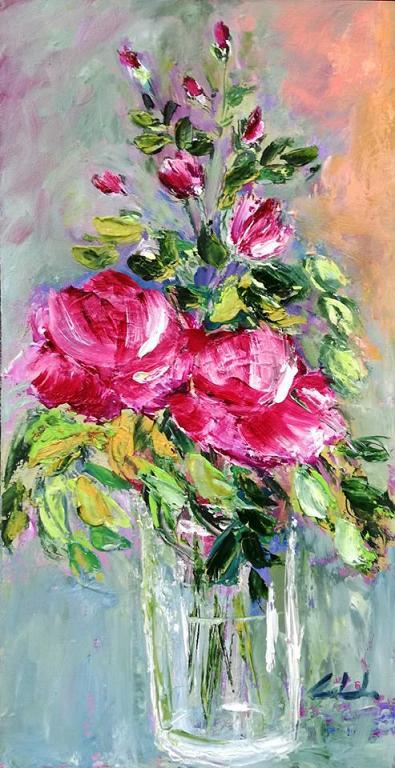 Rose in rosa  - Carla Colombo - Olio - 200 €