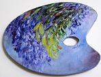 Di azzurro e violetto  - Carla Colombo - Olio - 63€ - Venduto!