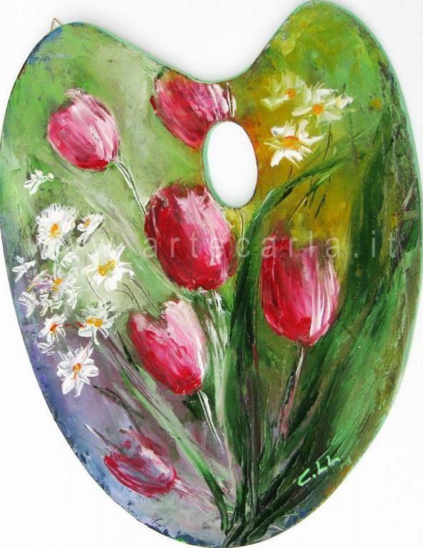 Primavera coi fiori - Carla Colombo - Olio - 65 €