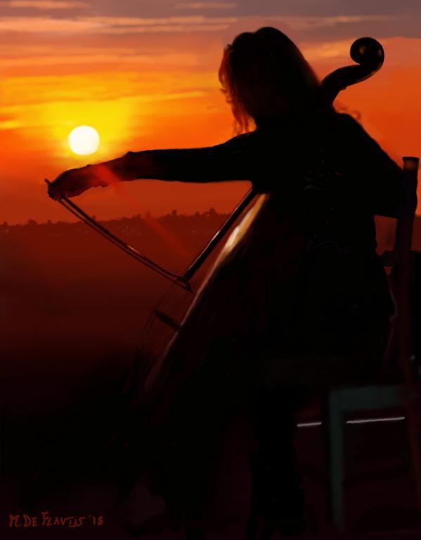 Violoncellista - Michele De Flaviis - Digital Art