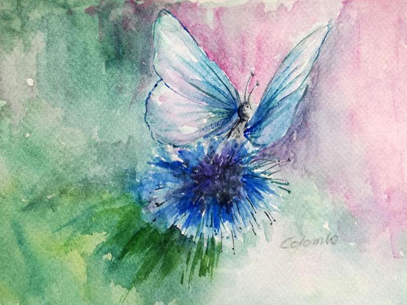 Incantesimo azzurro - Carla Colombo - Acquerello - 35 €