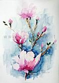 A thought of love for you - Carla Colombo - Watercolor - 70€