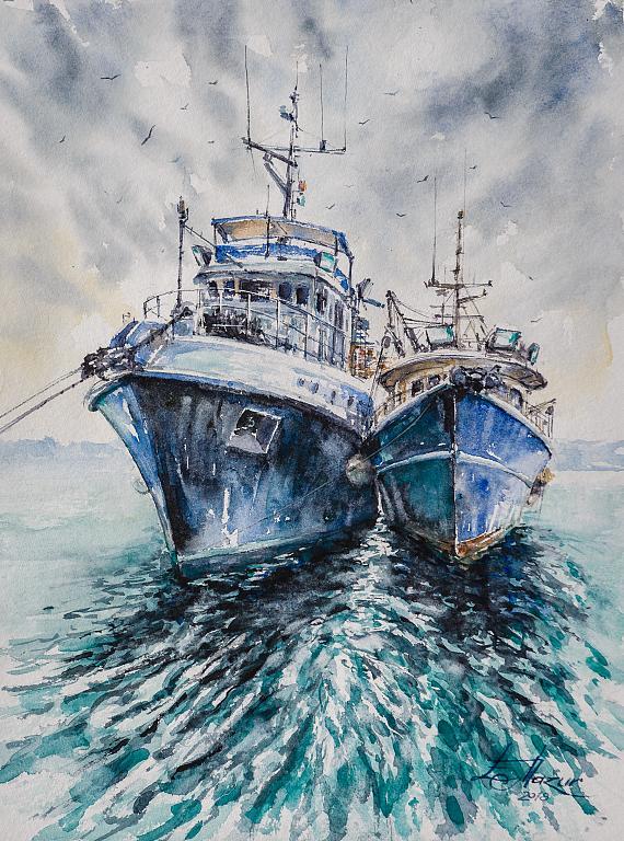 Pescherecci - Eve Mazur - Acquerello - 85 €