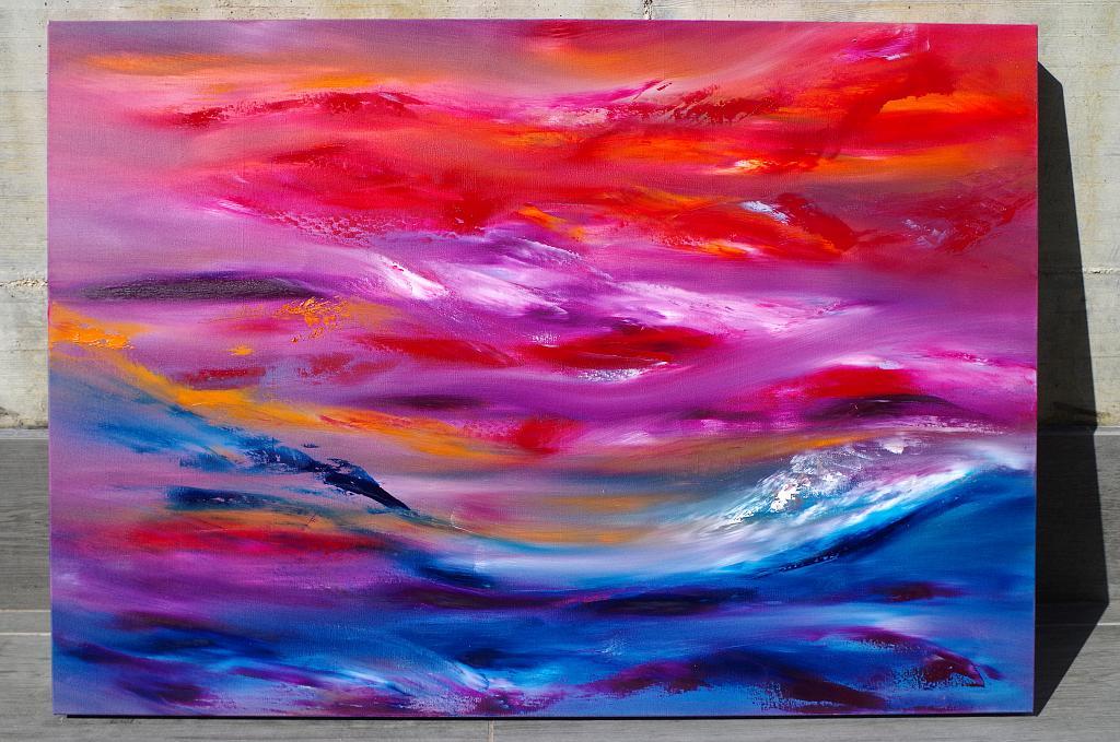Ride the storm, 100x70 cm - Davide De Palma - Olio -  €