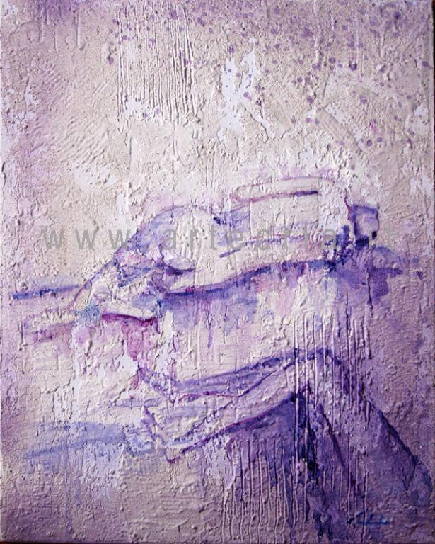 A pezzi... - Carla Colombo - olio + sabbia