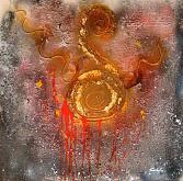 Ai margini la sofferenza  - Carla Colombo - olio + sabbia