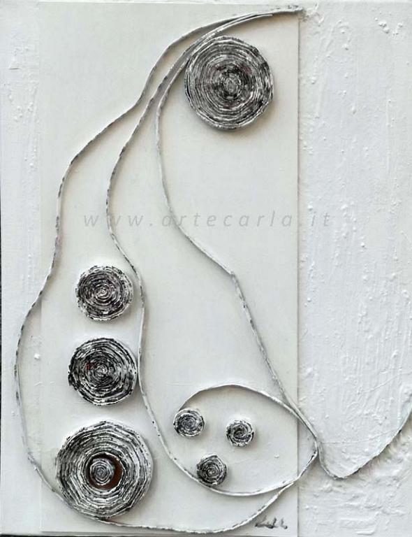 Avvolgenti emozioni 1  - Carla Colombo - olio + collage