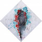 Certe presenze aleggiano nell'infinito cosmo dell'invisibile  - Carla Colombo - Olio