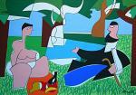 Le dejeuner sur l'herbe - Gabriele Donelli - Acrilico - 600€