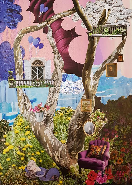 Zenitudine - Micromondi - Luana Marchisio - Collage effetto Diorama - 120 €