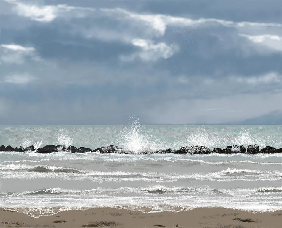 Mare burrascoso - Michele De Flaviis - Digital Art
