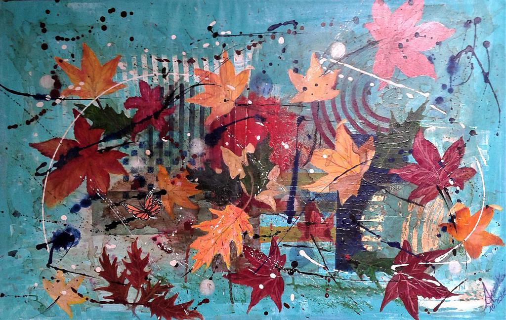 Il sorriso dell'autunno - anna casu - Acrilico