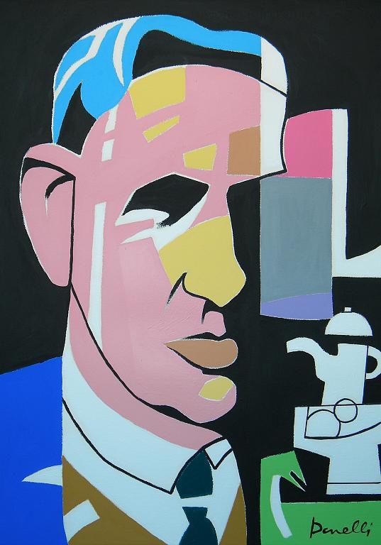 Ritratto di Giorgio Morandi - Gabriele Donelli - Acrilico - 1200 €