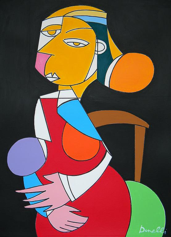 Donna seduta - Gabriele Donelli - Acrilico - 400 €