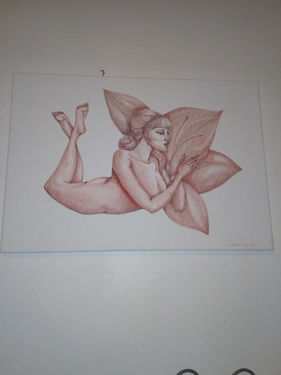 Nudo di donna pensierosa - Carmela Muscara - Carboncino - 150 €