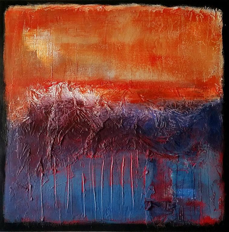 Landscape with orange - aliz polgar - mista