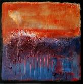 Landscape with orange - aliz polgar - mista - Venduto!