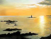 Faro immerso nell'alba - Michele De Flaviis - Digital Art - 70€