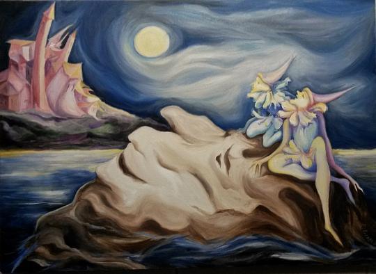 Guarda la luna - esther diana - Olio