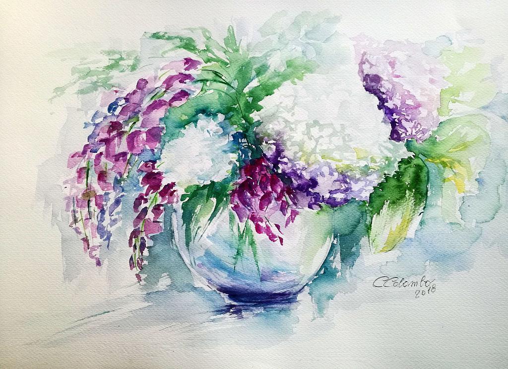Poesia in fiore - Carla Colombo - Acquerello -  €
