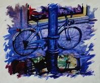 Bicicletta bynight - Paolo Benedetti - Acrilico - 200€