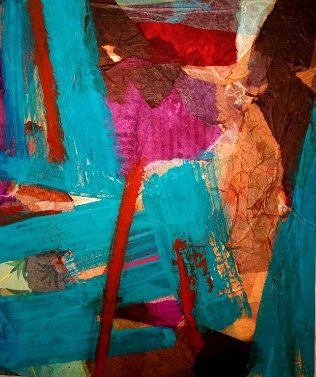 Terra viva - Alessandra Bisi - collage e pittura - 650 €