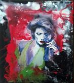 Ritratto alla sigaretta n.2  - EZIO  RANALDI - Action painting