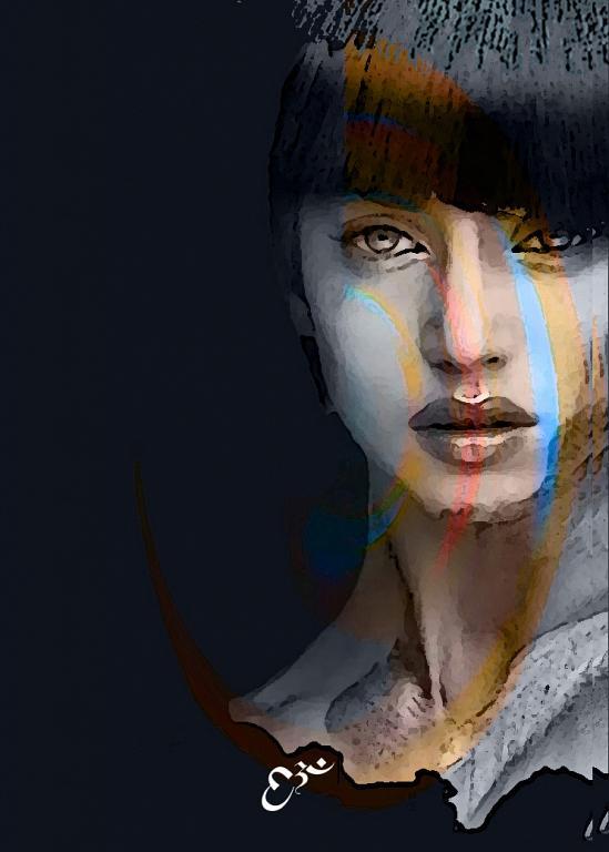 Afra - stampa retro plexi - Ezio Ranaldi - mix media art - 500 €